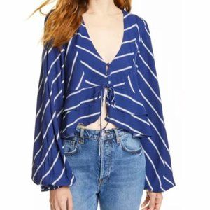 NWT Free People Samifran Ruffle Top